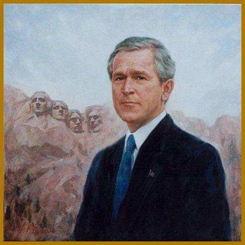 George w bush paintings church