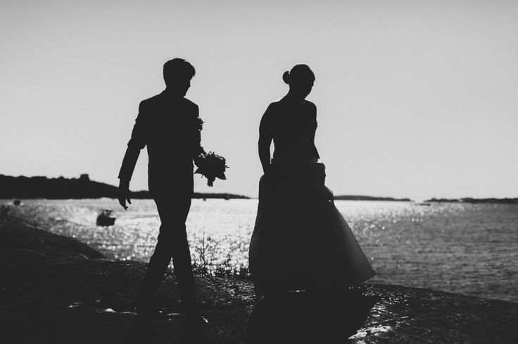 Wedding portrait in a silhouette