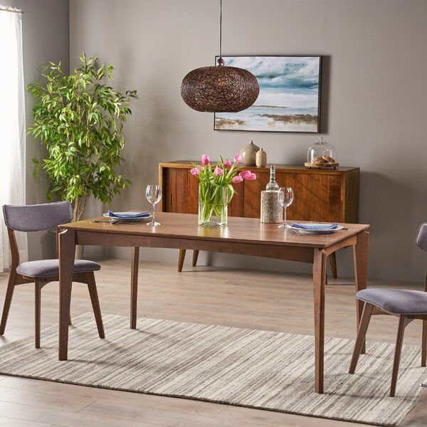 Escalante Mid Century Solid Wood Dining Table Dining Table Mid