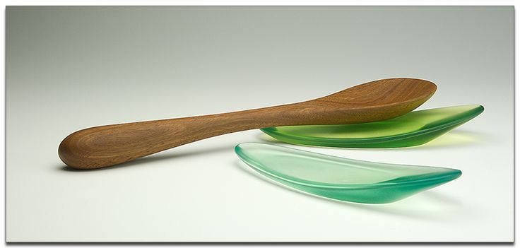 stirring spoon and resin utensil rests by bob gilmour / forest treasures, australia - image: bob gilmour - #utensils #kitchen #decor #gilmour #spoon #stirrer