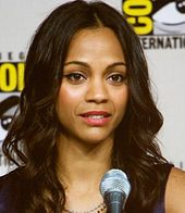 Zoe Saldana (born June 19, 1978), sometimes stylized Zoë Saldaña, is an American actress. She had her breakthrough role in the 2000 film Center Stage and the 2002 film Crossroads. She later gained prominence for her roles as Anamaria in Pirates of the Caribbean: The Curse of the Black Pearl, Uhura in the 2009 film Star Trek, and a starring role as Neytiri in James Cameron's Avatar. She also had a lead role in the action film Colombiana.