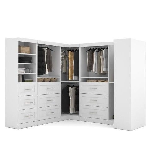 Wooden Closet System Heavy Duty Large Walk-In Kit Organizer Bedroom Wardrobe Big