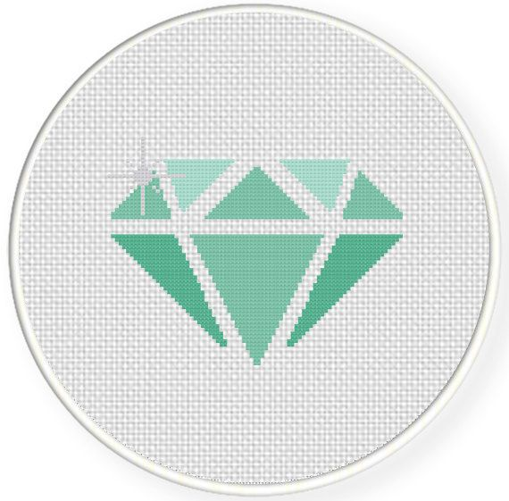 SALE Diamond PDF Cross Stitch Pattern by DailyCrossStitch on Etsy, $1.49