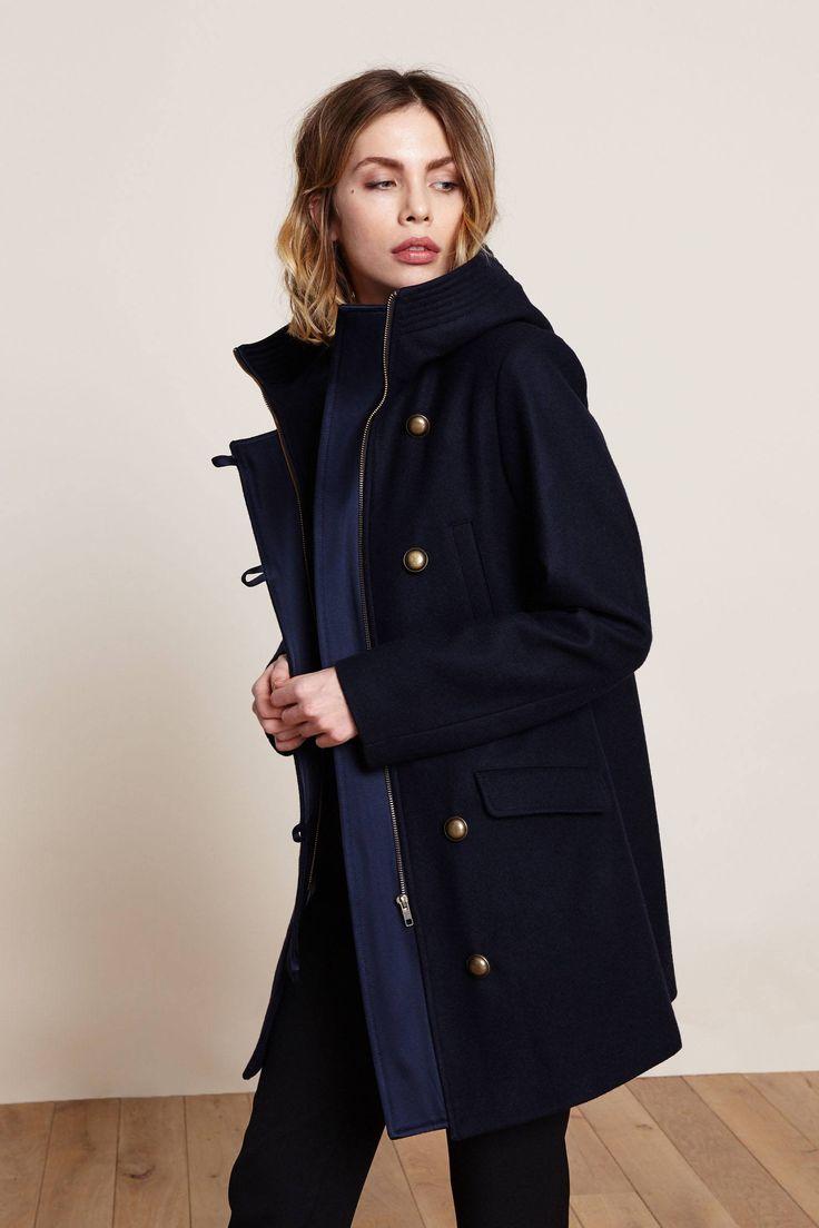 Manteau marine à boutons métal soldé 199.50€, Sessun MSR