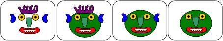 sequence cards for Go Away Big Green Monster
