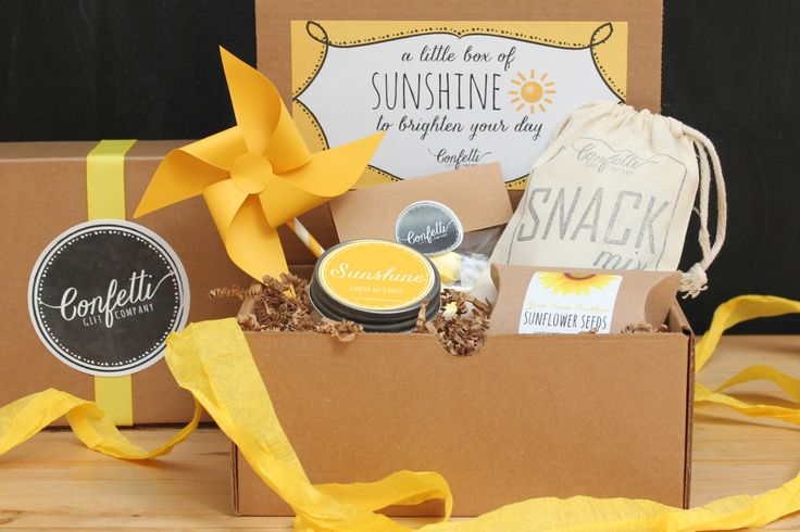 Box of Sunshine - Soy Candle Gift Box // Get Well Gift // Thinking of You Gift // Thank You Gift // Send a Gift // College Care Package by ConfettiGiftCompany on Etsy