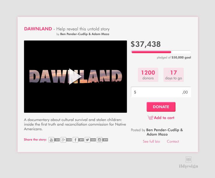 Crowdfunding UI Design