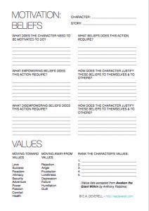 I love this! 4-page writing worksheet for working out character motivation.