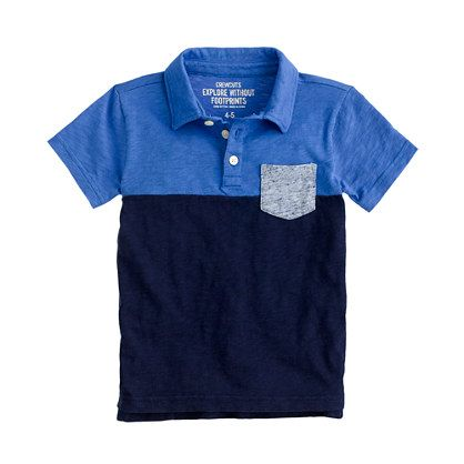 A staple for guys of all ages, designed with a crewcuts twist. It's made from super soft cotton and finished with a colorblock pattern that stands out from the standard stripes and solids. <ul><li>Cotton.</li><li>Chest pocket.</li><li>Machine wash.</li><li>Import.</li></ul>