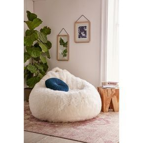 Aspyn Faux Fur Shag Bean Bag Chair EUR160 Liked On Polyvore Featuring