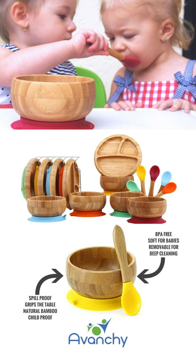 The perfect training bowls for your little angel. Pair it with a matching stay put suction divided plate and 5 mega pack bamboo training spoons Less mess & stress as they easily attach to any flat surface reducing spills, quick release tab at the bottom for easy removal Safety first! feed your child with high quality biodegradable, BPA free, Melamine free, Lead free and no biologically harmful chemical materials. Ad