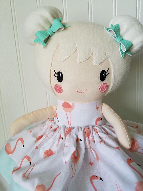 Handmade Doll Soft Doll Rag Doll Comfort Doll Personalized Doll Girl Rag Doll Fabric Doll Baby Doll Princess Doll First Doll Soft Baby Doll