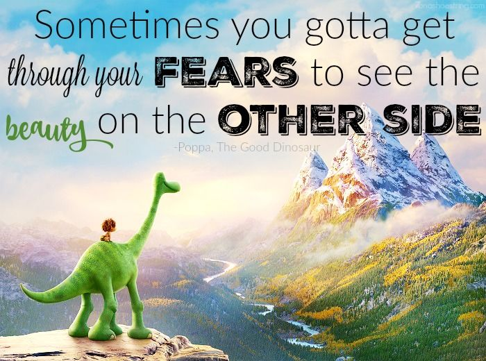 """""""Sometimes you gotta get through your fears to see the beauty on the other side."""""""
