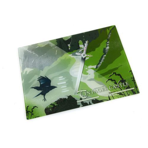 Buy the Tintagel Sword in the Stone Worktop Saver made from glass, from our Tintagel souvenir gift collection. Available online from English Heritage. Next day delivery available.