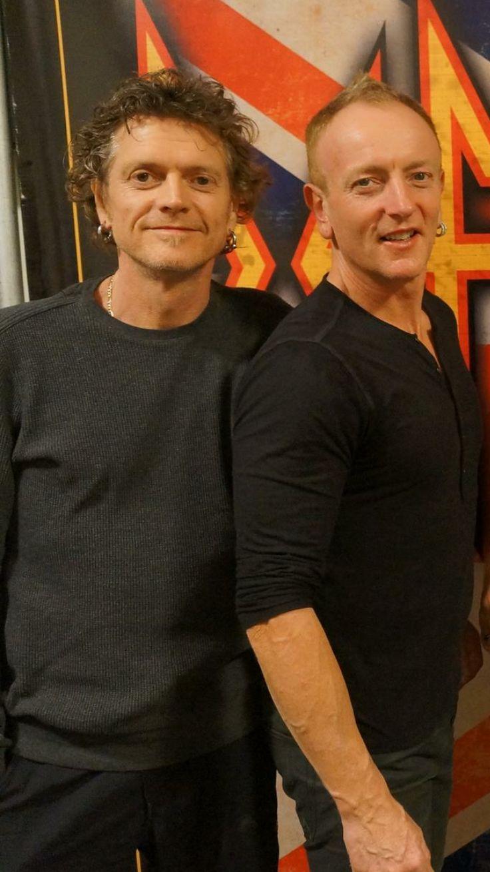 Rick Allen and Phil Collen