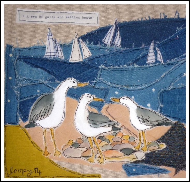 Gulls and sailing boats... Loopy