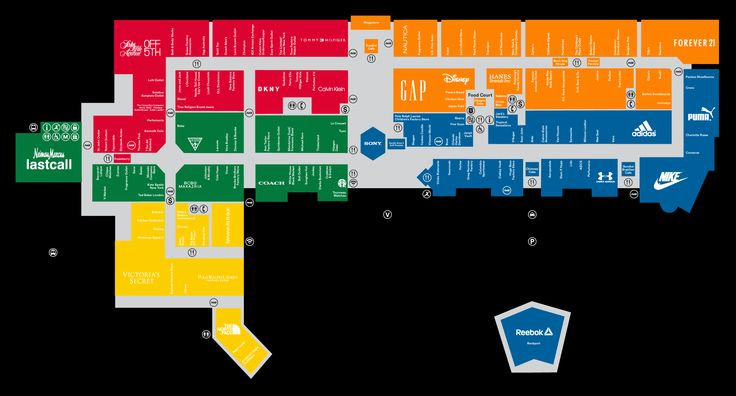 Mall Map For Orlando International Premium Outlets®, A Simon Mall - Located At Orlando,