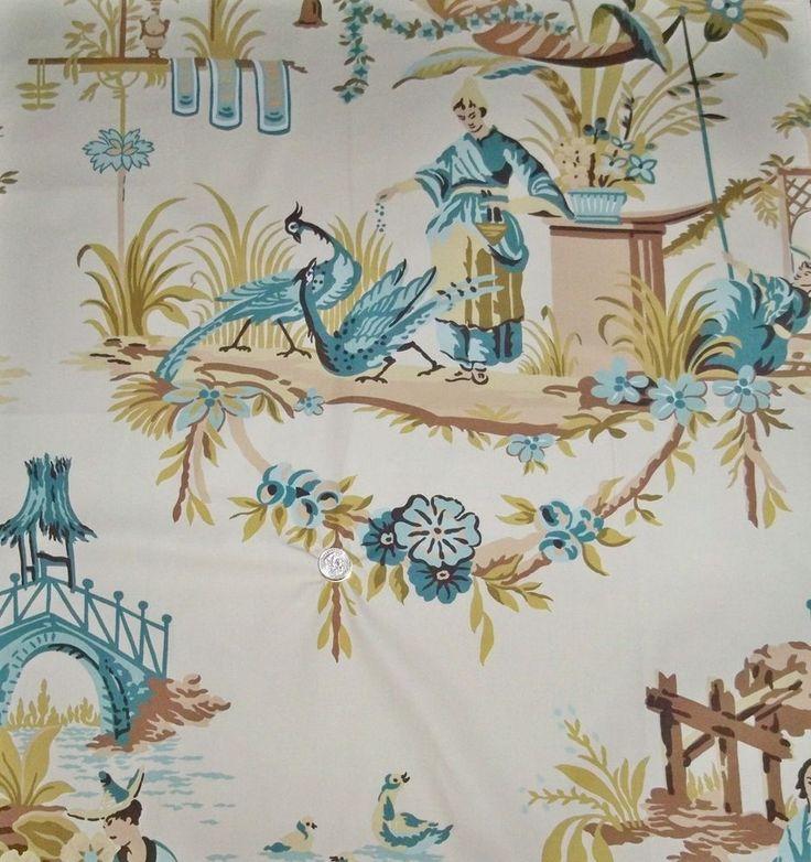 Lee Jofa Kravet French Chinoiserie Oriental Toile Fabric