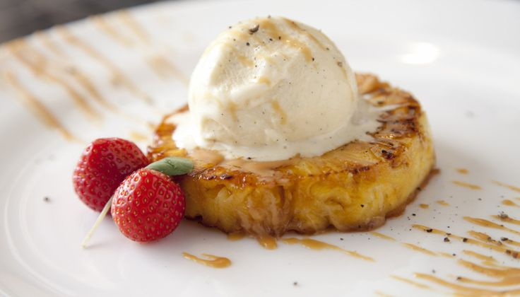 Roasted Pineapple, Caramel, Vanilla Ice-Cream - Weddings & Events - Claire Hanley - The Honorable Society of King's Inns.