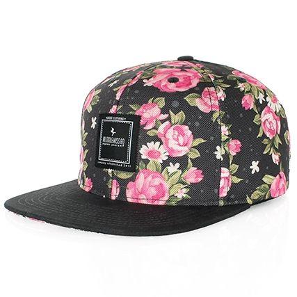 Casquette Snapback Mr Gugu & Miss Go Pink Roses - LaBoutiqueOfficielle.com