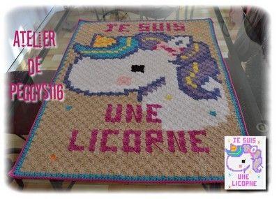 Pec Couverture C2c Je Suis Une Licorne Crochet Pinterest