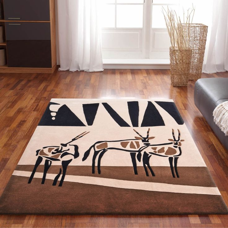 Kalahari rug collection will bring a touch of the African safari to your interior.