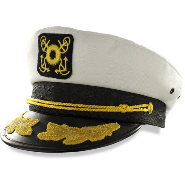 Captains Boat/yacht Hat White One Size Skipper/sailing/nautical Cap... ❤ liked on Polyvore featuring accessories, hats, white cap, cotton cap, nautical hats, bills hats and white hat