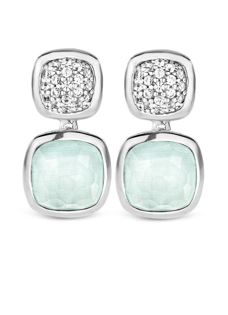 TI SENTO – Milano earrings  (reference: 7735AG) made of rhodium plated sterling silver. The rhodium plating provides extra shine and a longer lifetime of the jewellery. TI SENTO – Milano jewellery is always gift wrapped in a luxury packaging.