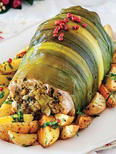 Antep fıstığı dolgulu hindi göğüs eti Tarifi - Türk Mutfağı Yemekleri - Yemek Tarifleri