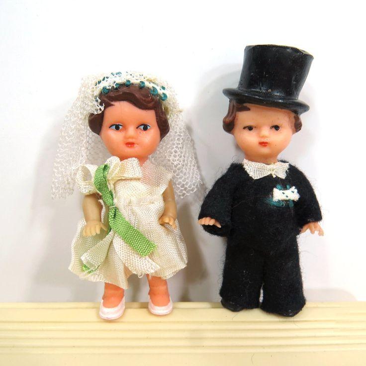 Vintage Bride & Groom Wedding Cake Topper East Germany by UrbanRenewalDesigns on Etsy