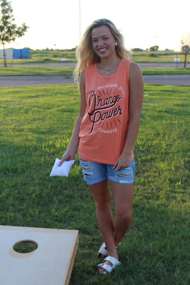 OSU orange power comfort colors tank top