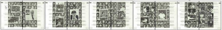 """I graduated H.S. 30 years ago this month. In my senior yearbook they lined up the teacher's photos to read """"SCHOOLS OUT""""."""