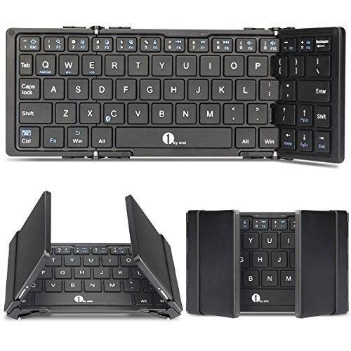 Folding Bluetooth Keyboard Wireless Slim Portable iOS Android Windows PC Tablet #FoldingBluetoothKeyboards