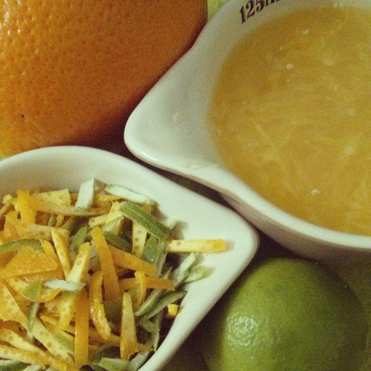 My citrus punch - Lemon and Orange sponge cake !!