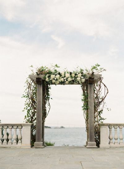 Gorgeous ceremony backdrop: http://www.stylemepretty.com/2015/03/03/modern-nautical-newport-wedding/ | Photography: Judy Pak - http://judypak.com/