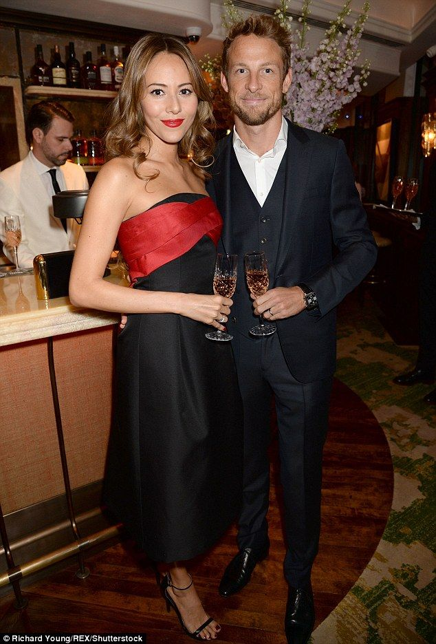 She's not his (Formula) One anymore! Jenson Button and wife Jessica have split after one year of marriage