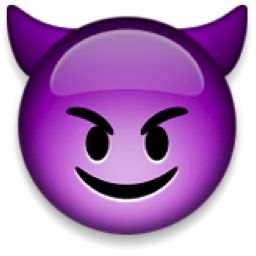 The Smiling Face with Horns Emoji on iEmoji.com