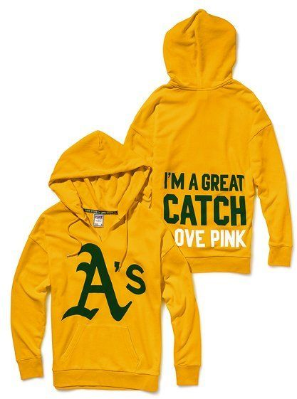 Victoria's Secret  Pink® Oakland Athletics Slouchy Hoodie. LOVE IT!!!