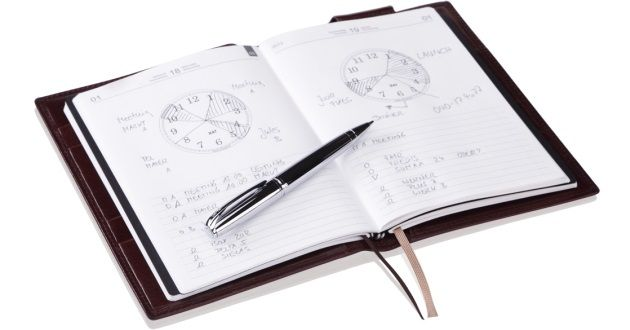 X47-Terminplaner Organizer Timer Notizbuch Notizbücher Kalender Notizhefte aus feinstem Leder für A7 A6 und A5 – X47