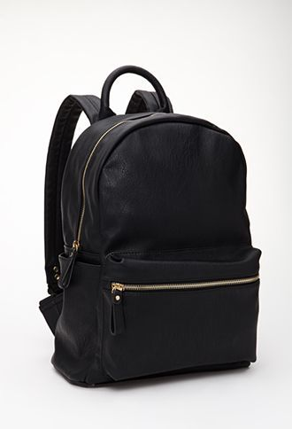 Classic Faux Leather Backpack | FOREVER 21 - 1000100999