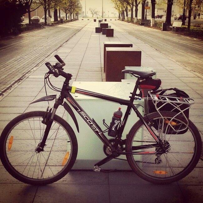 By #bike to #work from #Szczecin to #Goleniow