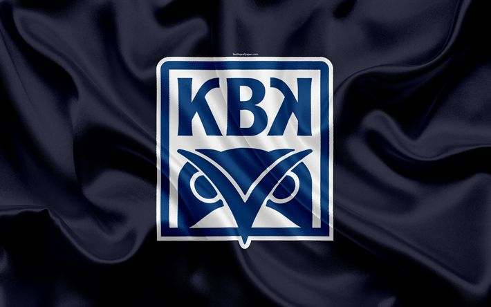 Download wallpapers Kristiansund BK, 4k, Norwegian football club, emblem, logo, Eliteserien, Norwegian Football Championships, football, Kristiansund, Norway, silk flag