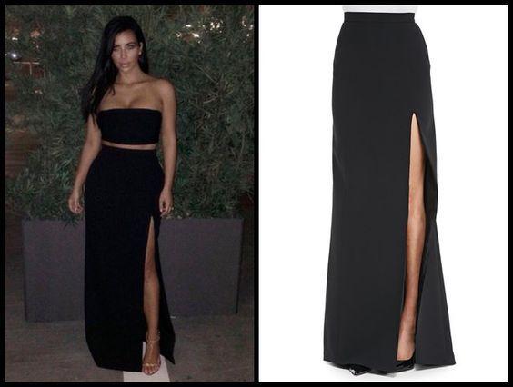 Resultado de imagen para como hacer una falda larga con abertura
