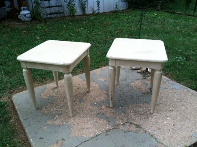 This Pair Of Taper Leg Cuties Have Been Painted In A Vintage White,  Distressed And Waxed To A Lovely Patina. $95 Available In Lynchburg VA From  Lynchburg ...
