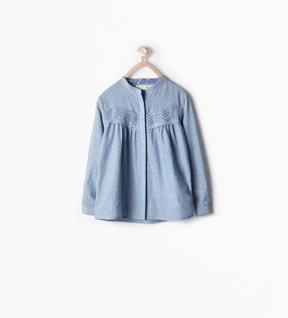 SPOTTED SMOCK TOP