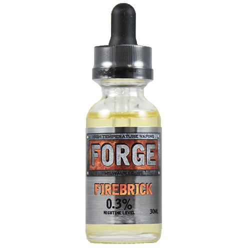 Forge Vapor eLiquids Firebrick - Cinnamon is often too harsh to vape with a lot of heat. Firebrick is crafted to hold in the heat and give you a mellow and sweet creaminess that tames the traditional cinnamon fire. A touch of horchata adds a unique cream that sets Firebrick apart in a class of its own.80% VG