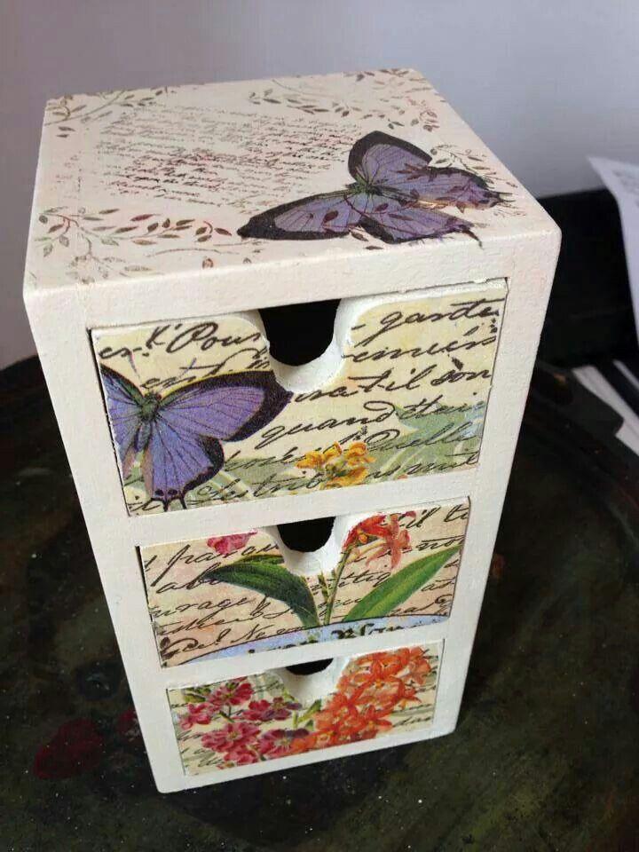 17 mejores im genes sobre cajas de madera en pinterest - Cajas de almacenaje decorativas ...