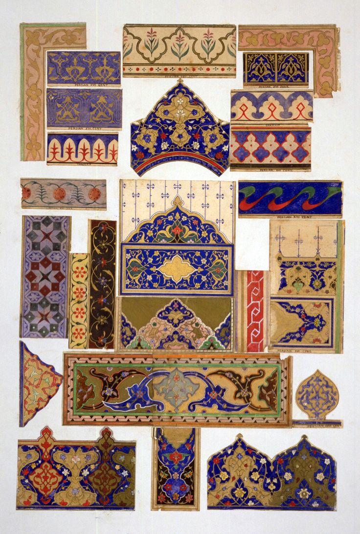 persian archetect, interiors images | Persian', Design, Owen Jones, 1856. Museum no. 1619