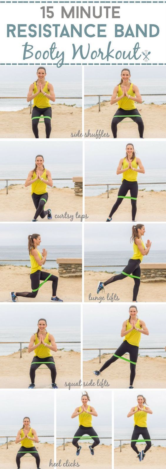 This targeted booty workout uses a resistance band for the ultimate backside sha…