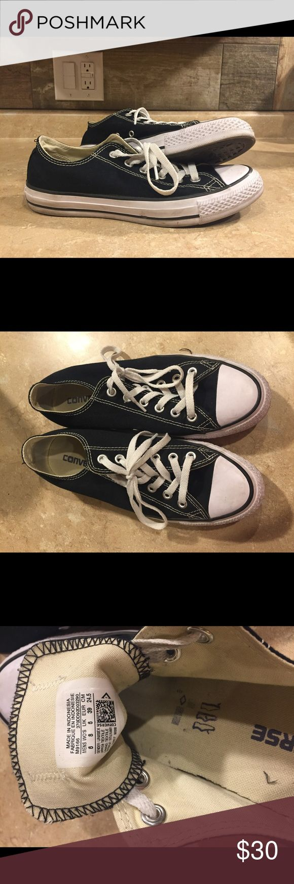 Barely worn black low top Converse! These are a classic they are just a little to big for me! I have only worn them a handful of times! Converse Shoes Sneakers
